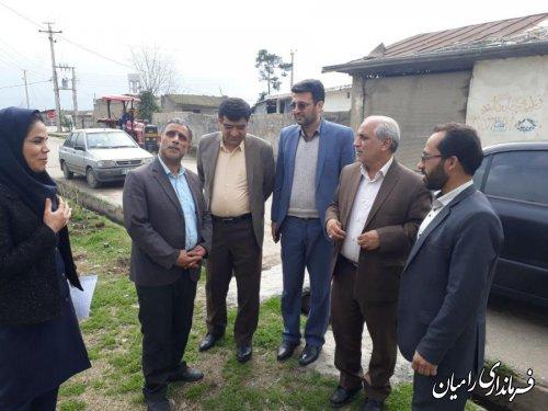 بازدید فرماندار شهرستان رامیان از روستای گلند