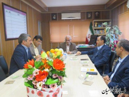 دیدار مدیرعامل شرکت توزیع برق استان با فرماندار شهرستان رامیان