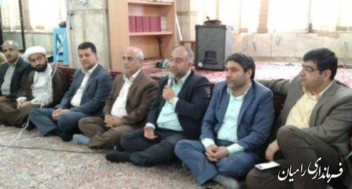بازدید فرماندارشهرستان رامیان از روستای سعد آباد فندرسک