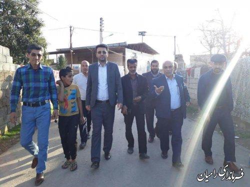 بازدید فرماندار شهرستان رامیان از روستای کلو