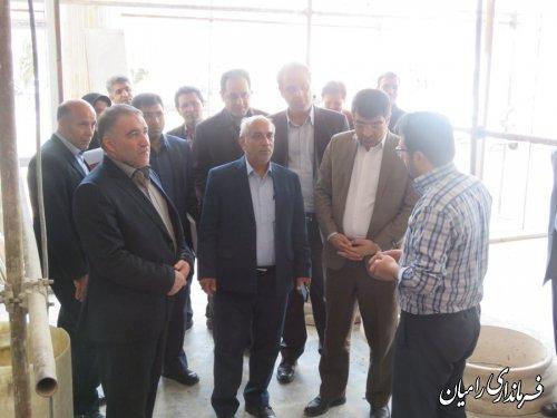 دیدار مهندس محبوبی مدیرکل راه و شهرسازی استان گلستان با فرماندار شهرستان رامیان