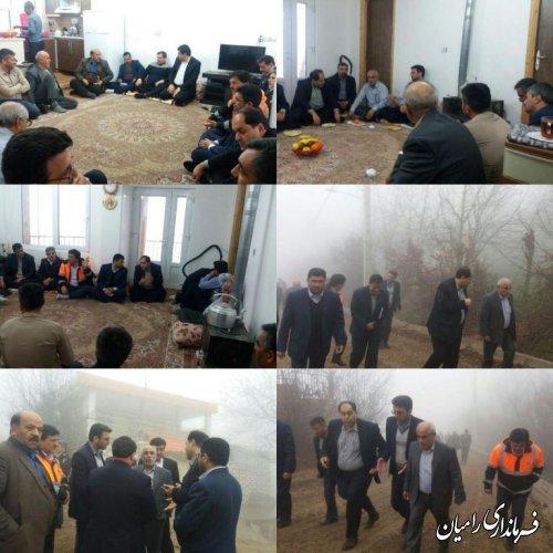 بازدید میدانی فرماندار شهرستان رامیان از دهکده تفریحی، توریستی و گردشگری پاقعله