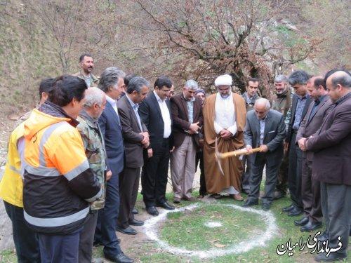 افتتاح و کلنگ زنی پروژه های آبخیزداری شهرستان رامیان
