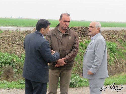 بازدیدفرماندار شهرستان رامیان از طرح های اقتصادی در حال اجرا در فندرسک و خان ببین
