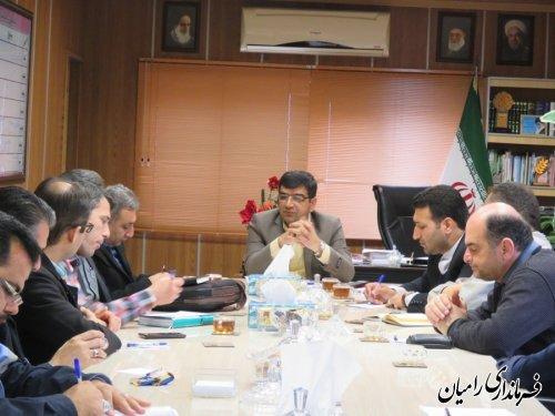 جلسه کمیته ارزیابی عملکرد و پاسخگویی به شکایات ستاد هماهنگی خدمات سفر شهرستان رامیان
