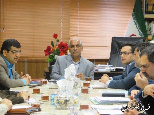 جلسه کارگروه تنظیم بازار شهرستان رامیان برگزار شد