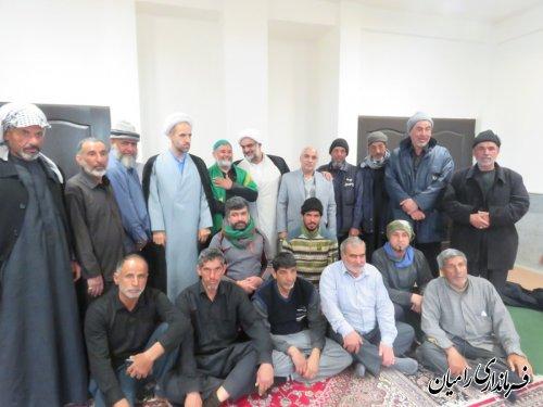 دیدار فرماندار شهرستان رامیان با هیئت محبان حضرت محمد(ص)