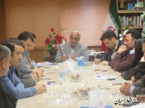 جلسه داخلی پرسنل فرمانداری و بخشداریهای تابعه شهرستان رامیان برگزار شد