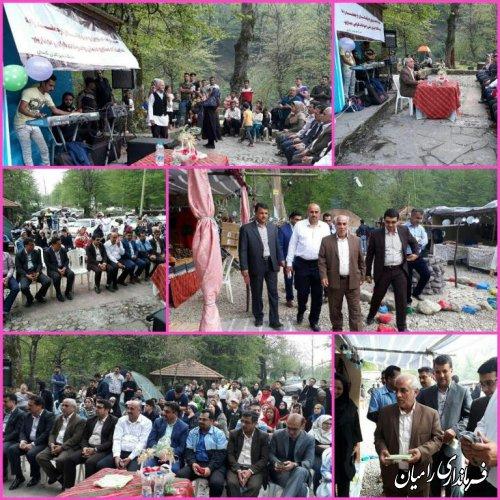 افتتاح نمایشگاه صنایع دستی و سوغات روستای شیرآباد بخش فندرسک شهرستان رامیان