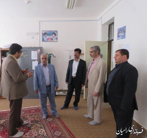 بازدید فرماندار شهرستان رامیان از محل اسکان مسافران نوروزی در شهرستان