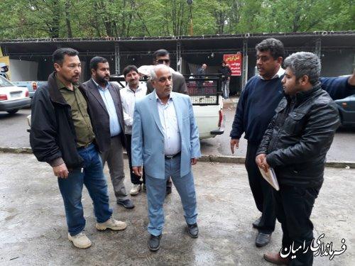بازدید سرزده فرماندار رامیان از دهکده گردشگری اقتصاد روستا در پارک جنگلی دلند