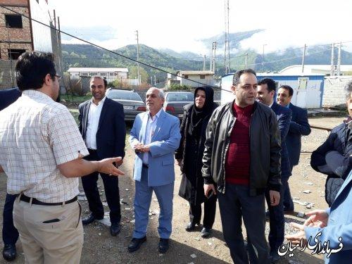 بازدید فرماندار شهرستان رامیان از روند احداث ساختمان جدید فرمانداری