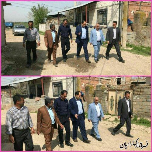 بازدید فرماندار شهرستان رامیان از روستای سلمان فارسی بخش فندرسک