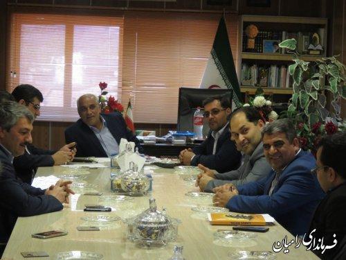 دیدار فرماندهان و مدیران بسیجی شهرستان رامیان با فرماندار