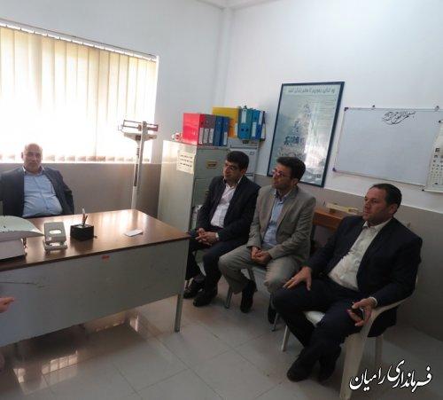 بازدید سرزده فرماندار شهرستان رامیان از روستای سفید چشمه از توابع بخش مرکزی