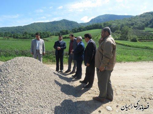 بازدیدفرماندارشهرستان رامیان از محل برگزاری جشنواره توت فرنگی
