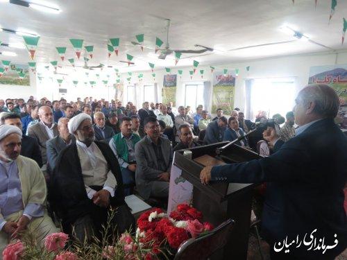برگزاری جشن برداشت محصول کلزا در شهرستان رامیان