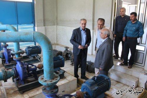 بازدیدفرماندارشهرستان رامیان از زیرساخت های شبکه آب رسانی شهرستان رامیان