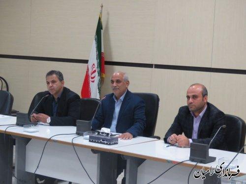 جلسه بررسی وضعیت خبازیهای شهرستان رامیان