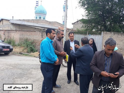 بازدید مهندس علوی بخشدار مرکزی از 9 روستای بخش مرکزی رامیان
