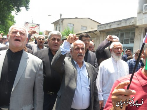 حضور پرشورمردم در راهپیمایی روز جهانی قدس ادای دین مردم به نظام ،انقلاب وامام است