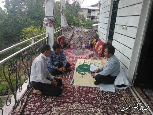بازدید مهندس علوی بخشدار بخش مرکزی رامیان از روستاهای کشکک، رضی، ویرو و الهادی