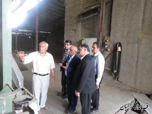 حضور مهندس علوی بخشدار مرکزی رامیان در بازدید از کارخانه آرد الماس شهرستان رامیان