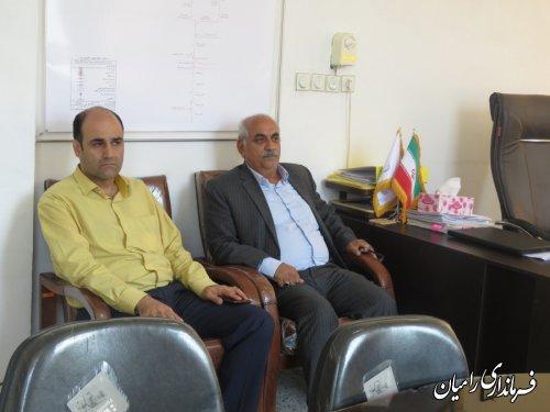 بازدید سرزده فرماندار رامیان از اداره برق شهرستان رامیان