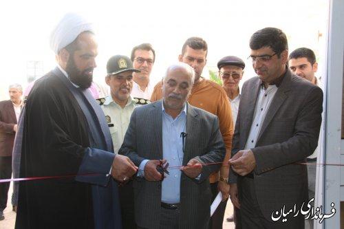 حمل مشعل سلامت توسط فرماندار شهرستان رامیان