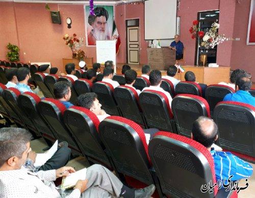 برگزاری دومین جلسه آموزشی ویژه دهیاران و شوراهای اسلامی روستاهای شهرستان رامیان