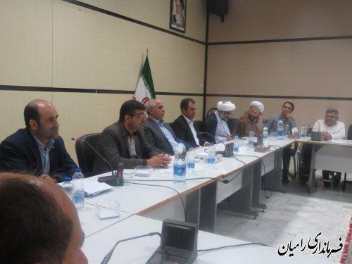 حضور بخشدار مرکزی در جلسه اضطراری جهت وضعیت بحرانی آب و هوایی در شهرستان رامیان