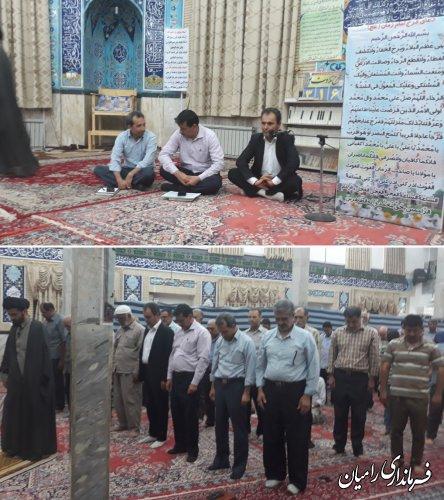 حضور بخشدار مرکزی در نماز مغرب و عشاء روستای توران فارس و سخنرانی در خصوص اشتغال