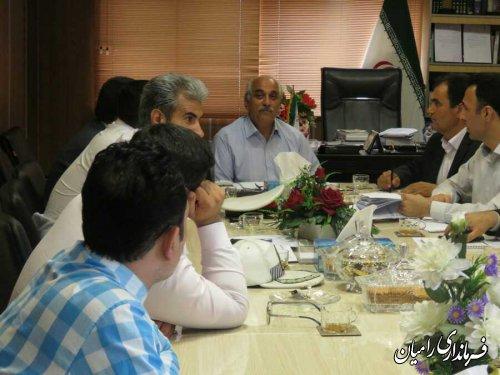 حضور ابراهیمی بخشدارفندرسک درجلسه شورای هماهنگی ترافیک شهرستان رامیان