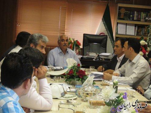 جلسه شورای هماهنگی ترافیک شهرستان رامیان