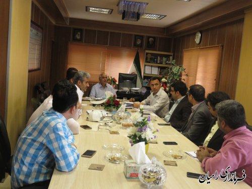جلسه شورای هماهنگی ترافیک شهرستان رامیان برگزار گردید