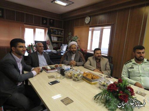 دیدار ریس دادگستری و دادستان رامیان و امام جمعه دلند بمناسبت هفته دولت با فرماندار رامیان