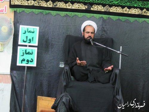 حضور فرماندار رامیان در مراسم عزاداری ابا عبدالله الحسین  (ع) شهر خان ببین