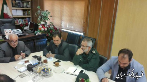 جلسه هماهنگی روز عاشورای حسینی رامیان برگزار شد