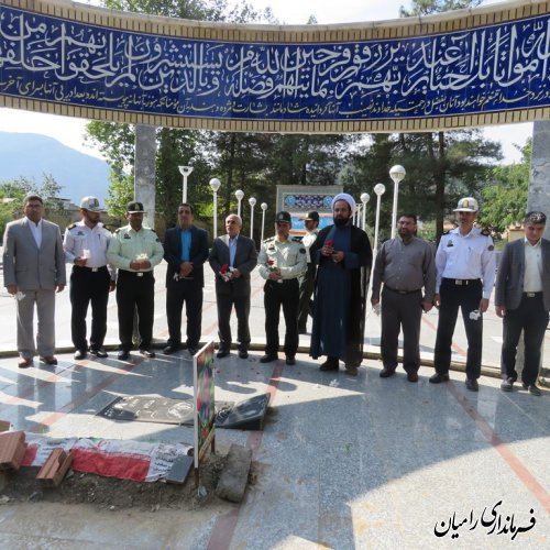مراسم غبار روبی گلزار شهدا شهرستان رامیان