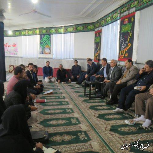 برگزاری میز خدمت و بررسی مشکلات روستاهای بخش مرکزی رامیان