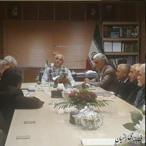 دیدار اعضا حزب سازمان معلمان گلستان با فرماندار رامیان