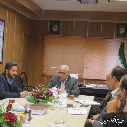 اولین نشست کمیته مشورتی توسعه کشاورزی شهرستان رامیان برگزار گردید