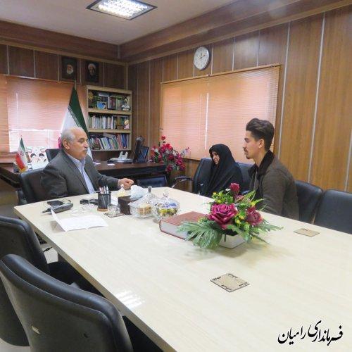 ملاقات مردمی و چهره به چهره  فرماندار رامیان با مردم شریف شهرستان رامیان