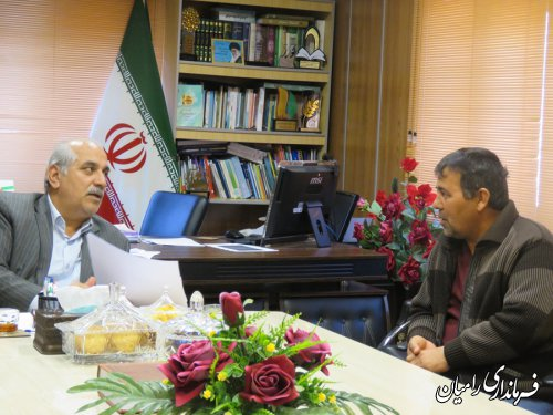 ملاقات مردمی و چهره به چهره  فرماندار شهرستان رامیان با مردم شریف شهرستان رامیان  برگزار گردید.