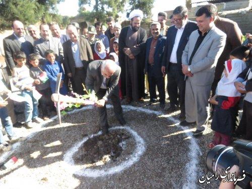 مراسم کلنگ زنی مدرسه ارشاد روستای سلمان فارسی بخش فندرسک شهرستان رامیان برگزار گردید