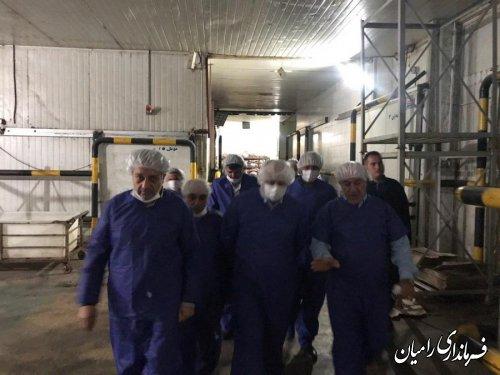 بازدید استاندار گلستان از مجتمع تولید گوشت گلند شهرستان رامیان