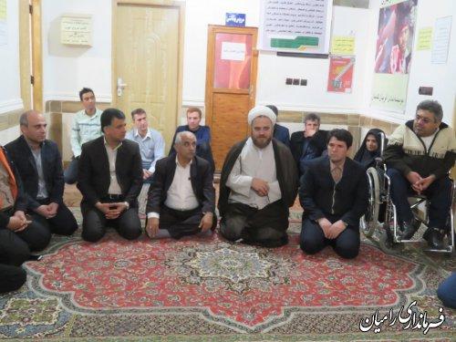 بازدید فرماندار رامیان و مدیرکل بهزیستی از مراکز ترک اعتیاد شهرستان