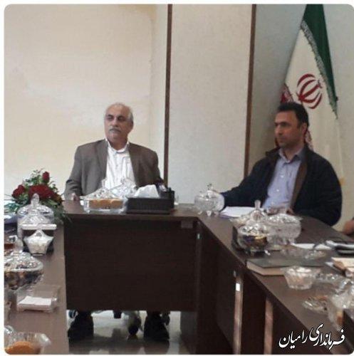 جلسه شورای هماهنگی مدیریت بحران  شهرستان رامیان برگزار گردید