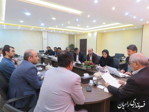 شورای سلامت و امنیت غذایی شهرستان رامیان برگزار گردید