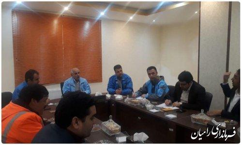 جلسه اضطراری مدیریت بحران شهرستان رامیان درپی بارش های باران سیل آسا در این شهرستان برگزار گردید